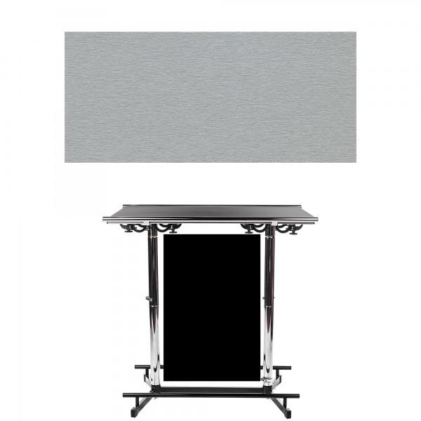 GiganTisch Dekor: Silver | Werbebanner: schwarz