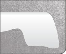 Plattenkante in Originalgröße