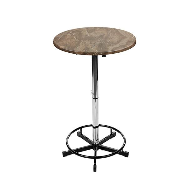 Stehtisch Utah Brown mit 70cm oder 80cm Tischplatte rund