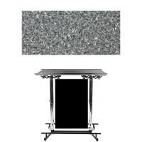 GiganTisch Dekor: Black Granit | Werbebanner: schwarz