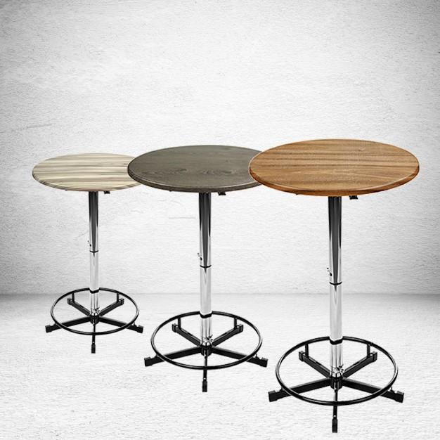 Stehtische und Wood Dekore