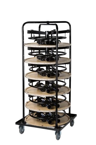 Rollbehälter inklusive 6 Stehtisch PrakTisch