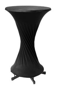 Stretchhusse, Stehtischhusse schwarz Ø 70 - 80 cm