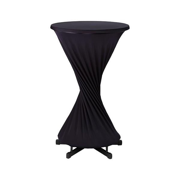 2-teilige Stretch-Husse in schwarz, Husse mit Tischplattenbezug