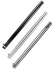 Stehtisch Rohre, schwarz pulverbeschichtet, Edelstahl V2A, Chrome