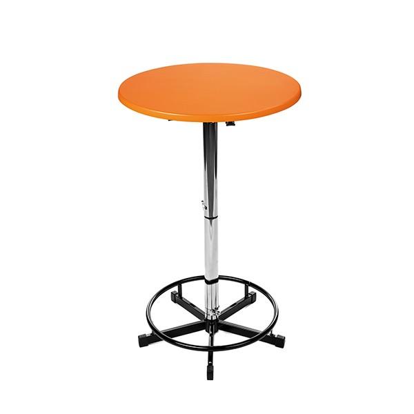 Logotisch mit Orangener Tischplatte